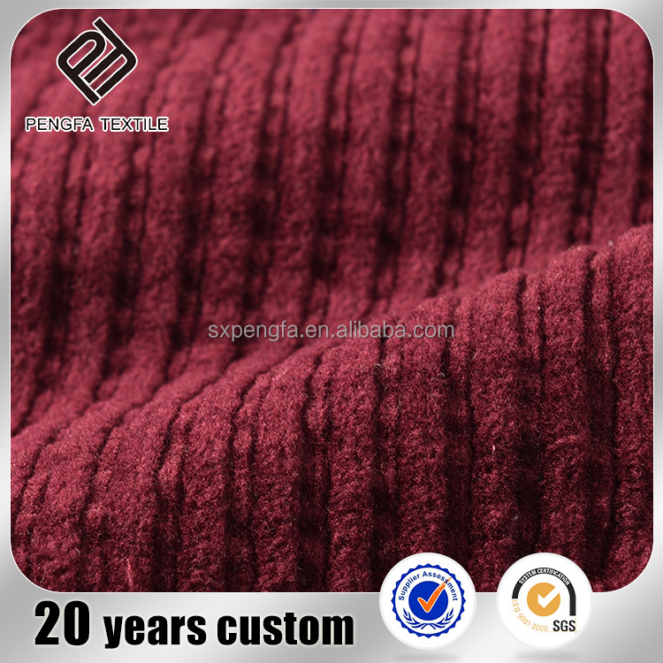 340gsm wide wale corduroy fabric cheap price 100% cotton fabric