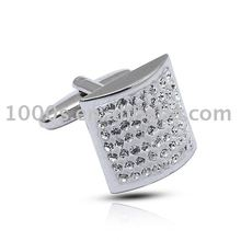 925 sterling silver cufflink with crystal