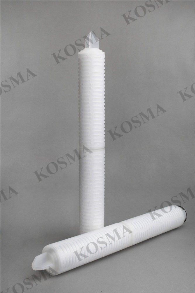 Double open ends adaptor Absolute 0.1 Micron Hydrophilic PVDF Membrane Pleated Filter