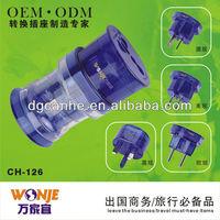 travel accessory electrical multiple plug socket power outlet with EU UK US AU standard socket (CH-126)