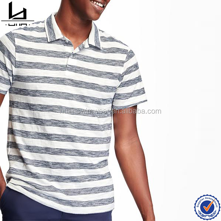 Wholesale mens contrast striped new pattern polo golf latest designs t shirt for men