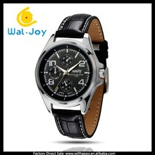 businessmen luxury vogue hot sale Japan movement NARY leather watch(WJ-3280)