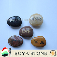 China wholesale websites inspirational engraved river stones