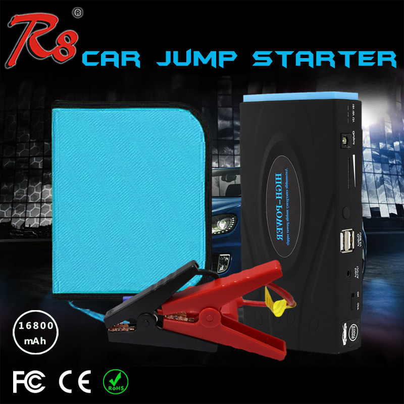 car booster TM10E 12V 16800mAh jump start EPS portable battery for 12v gasoline/diesel cars jump starter with handbag
