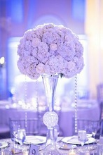 Glass clear flower vase wedding table centerpiece