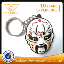 Cheap cute customized rubber Promotional products PVC Keychain