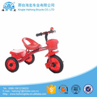 Hebei wholesalerl red safely cargo kids tricycle