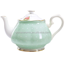 2016 new products porcelain crockery modern shape ceramic bone china coffee pot CPO-4