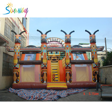 High Quality Giant Inflatable Playland , Giant Inflatable Climbing Funcity , Giant Inflatable Slide Bouncer Combo For Sale