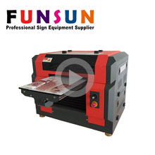 Multicolor Color and Inkjet Printer Type A3 uv flatbed printer