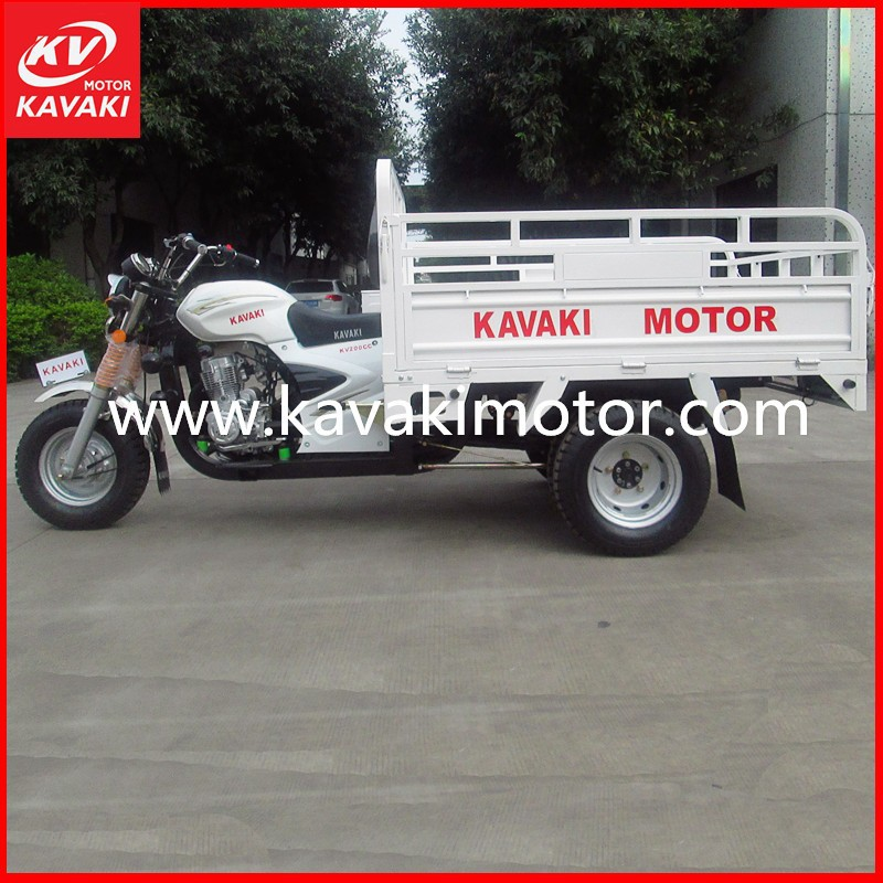 2015 Hot Sales KAVAKI Fashion 3 Wheel Transport Vehicle With Hydraulic Dumper System