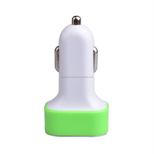 High Quality LED Light 3.1AMP Output 3 Port USB Mobile Phone Tablet Car charger With CE ROHS FCC
