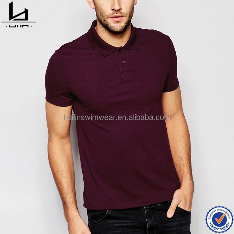 Mens breathable cotton polo collar t-shirt skinny polo shirt with tight fit