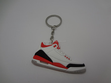 Fashionable air nike jordans sneakers shoes kerings men's air jordan basketball shoes keychains custom 3d air jordan keychains
