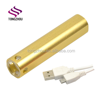 Portable Micro USB Mobile Power Rechargeable Power Bank Flashlight