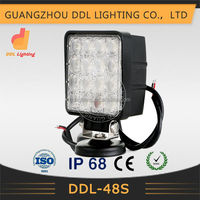 HOT!!! waterproof 12v led work light 48w for ATV,UTV,SUV,Offroad 4x4 Car accessories