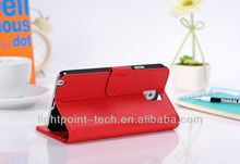 Card Slot Stand Litchi Grain genuine leather case for samsung galaxy fame note3 N9000