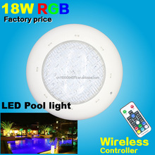 IP68 LED swimming Pool light 18w RGB+Remote controller 12V DC/AC Underwater lights pond bulb