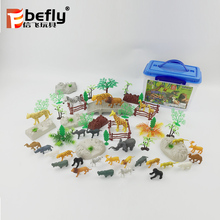 30pcs Vivid plastic toy forest animal for kids pretend play