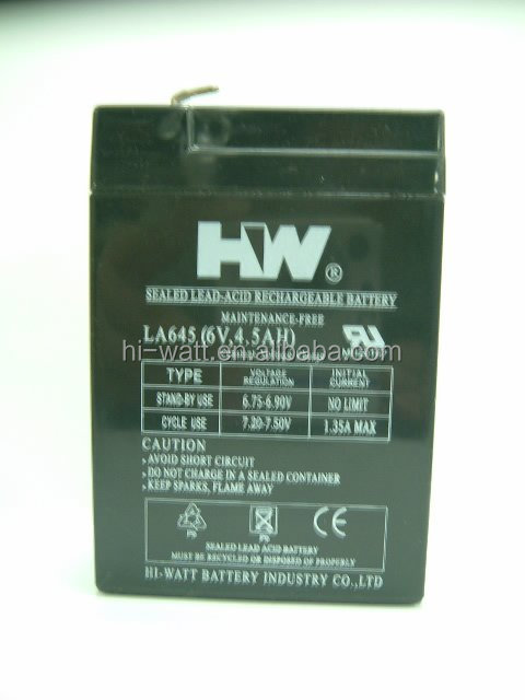 LA645 6V long Life Sealed Lead-Acid Battery