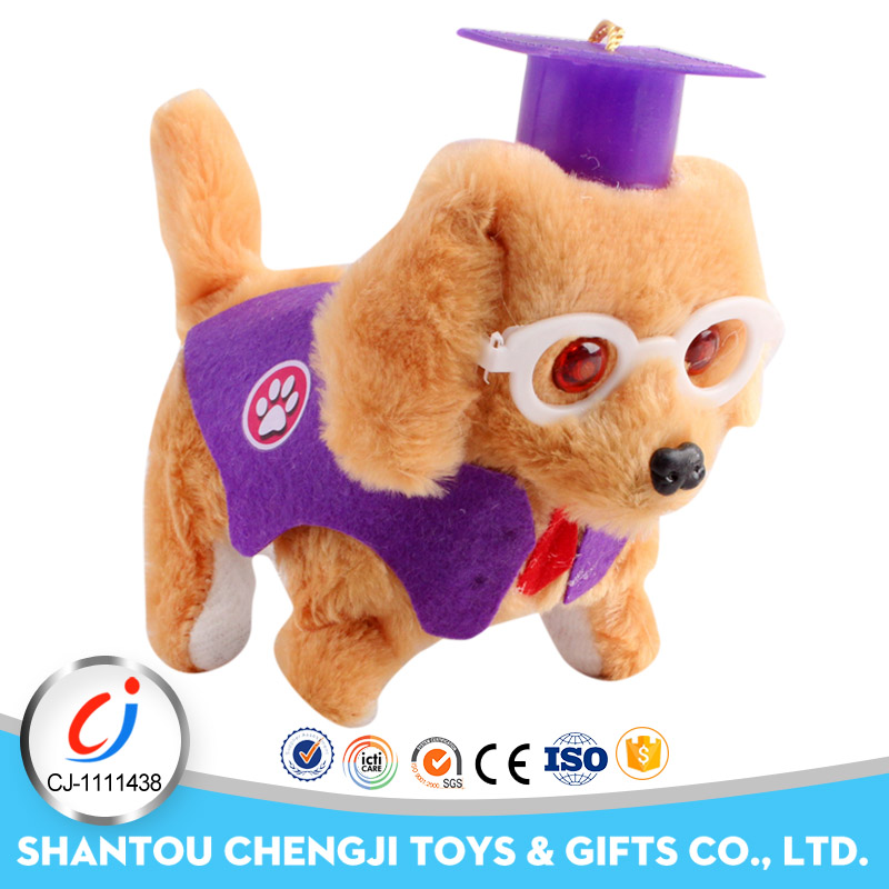 Realistic electric lovely custom stuffed dog plush