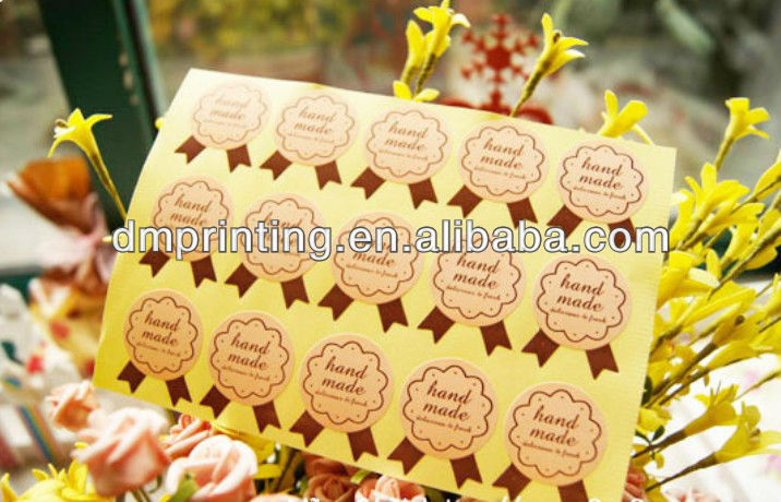 Gold Printed Paper Stickers Waterproof For Sealing