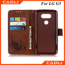 Luxury Retro PU Leather Phone Case For LG G5 Back Cover Shell Wallet Card Flip With Stand