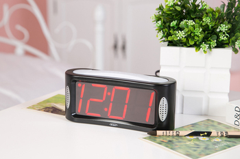Giant Snooze Light Alarm Clock White Night Light