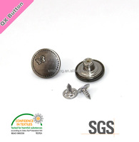 17mm Snap Fastener Metal Shank Buttons for Jeans Jackets