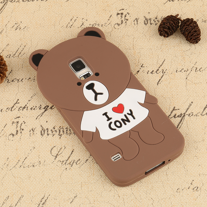 China Supplier bear Mobile Phone Silicone Cover Case For Iphone 6 6s