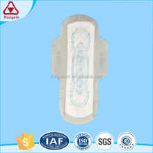 OEM service soft cotton disposable 240mm brand name sanitary napkin for female