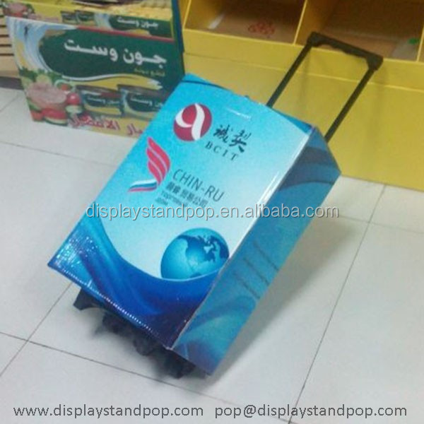 Customized Promotional Cardboard Exhibition Trolley for Carrying Leaflet on Exibition