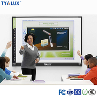 "Windows 98"" eraser sponge small board size magnetic aluminum framed dry interactive whiteboard erase for office&school"