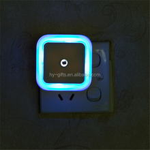 square 0.5w night light auto sensor led night light control auto sensor