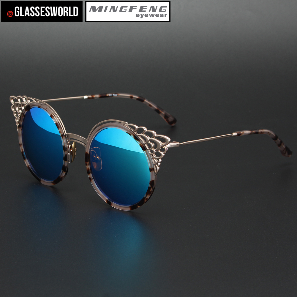 women sunglasses with high quality metal retro design own sun图片