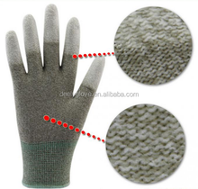 PU Coated Nylon Working Gloves Nylon Gloves With PU In Fingertips