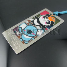 personalized animal cute metal etch bookmarks