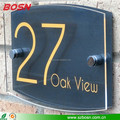 transparent acrylic room number sign acrylic door plate