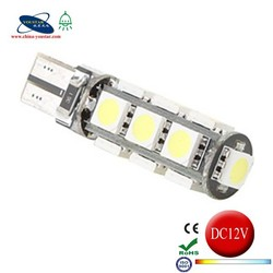 High quality T10 13smd 5050 SMD White LED CANBUS W5W T10 canbus car led light