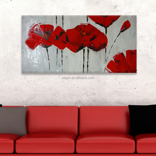 100% Handmade Abstract Flower Picture Oil Painting on Canvas