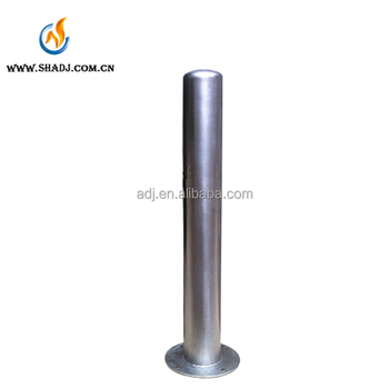 Professional outdoor road traffic removable stainless bollards,galvanized steel poles