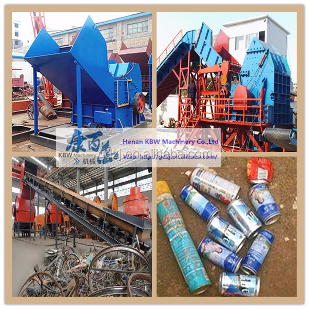 3-5t/h metal scrap crusher machine/waste metal crushing machine/zip-top can crushing machine