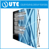 Promotion portable advertising advertised custom trade show exhibit spring pop up display event backdrop stand