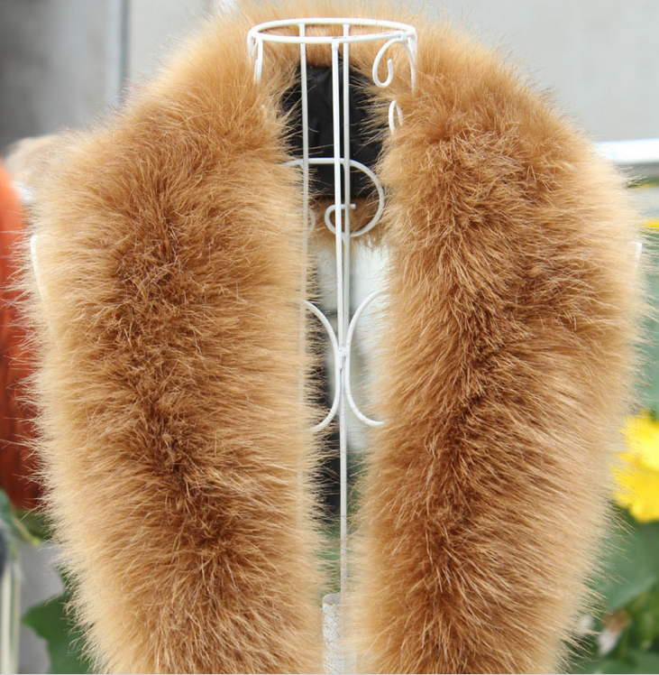 Lantian Fur Fake Raccoon Large Fur Collar /real fur Trim for Winter Coat/Parka