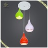 Pear Shaped Indoor Decorating Colorful Pendant Lights For 3 Lamps Dining Lamp, Acrylic Shade Pendant Lamps