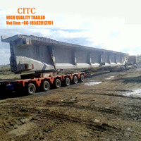 precast beam girder vehicle hydraulic goldhofer modular semi trailer