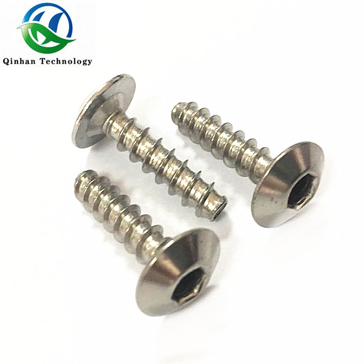 Hex socket truss head self tapping screw flat tail
