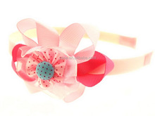 Hot selling hand made large ribbon flower hair accessories online
