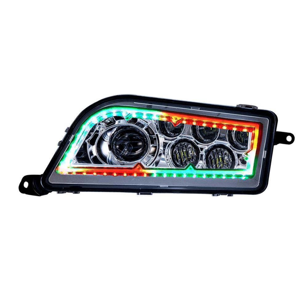 Multi color RGB high low beam halo ring LED headlight For ATV UTV Polaris RZR 1000