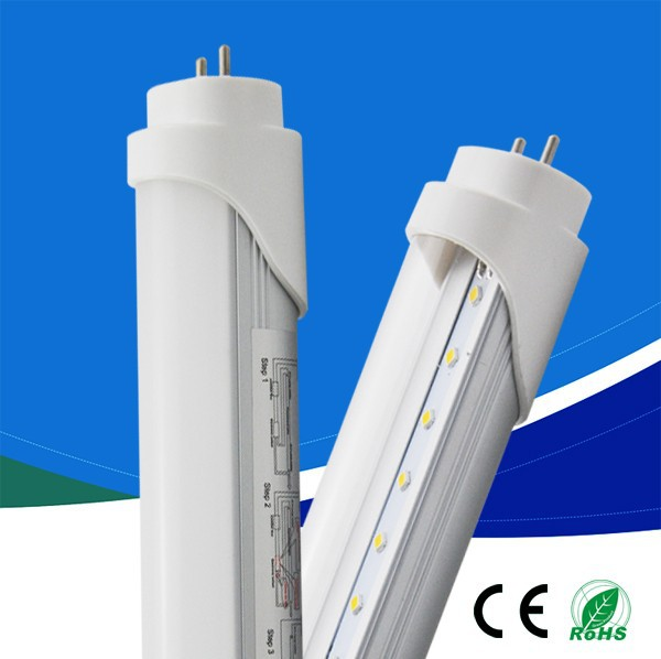 China Factory T8 led tube 10W SMD2835 AC185-265V 0.6m 90lm/w CRI>70 150 degree 1-3 year Warranty pure white